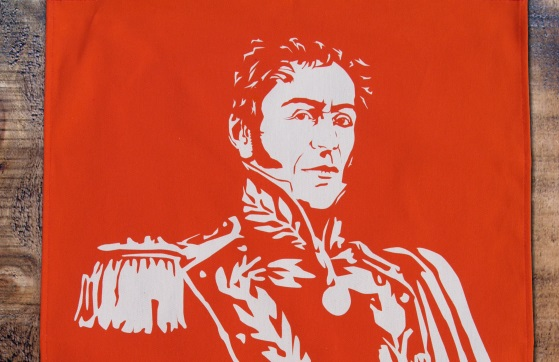 Simon Bolivar tea towel