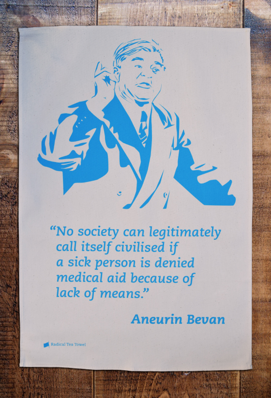 Aneurin Bevan tea towel