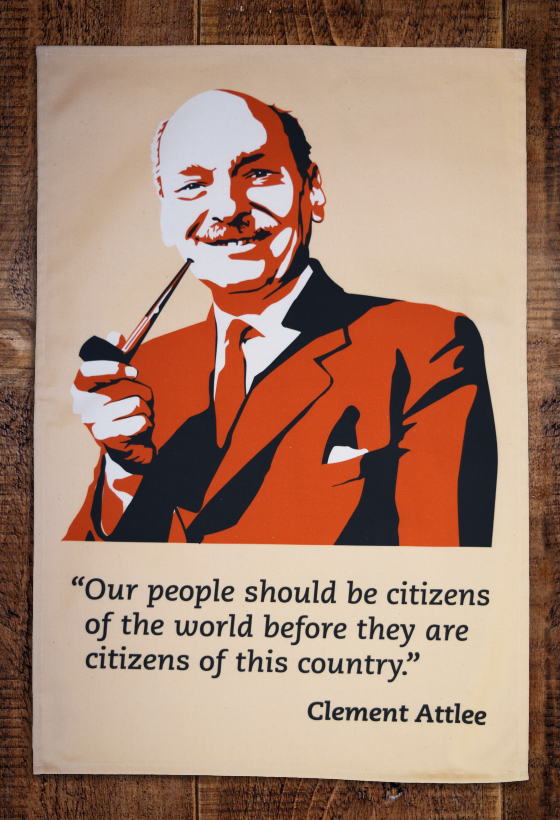 Clement Attlee tea towel