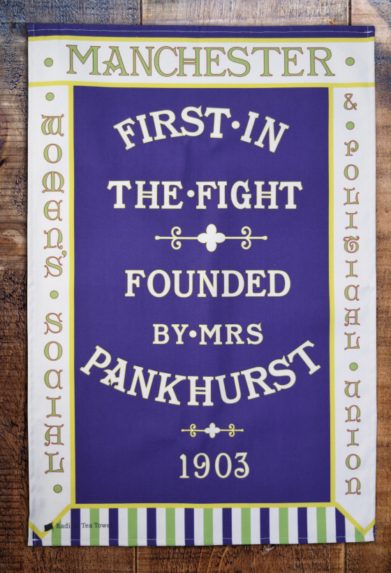 Manchester WSPU Tea Towel