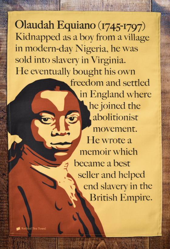 Equiano tea towel